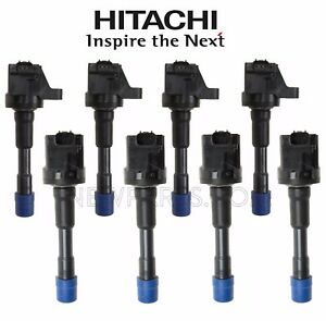 For Honda Civic Insight L4 4 Front & 4 Rear Direct Ignition Coils KIT Hitachi