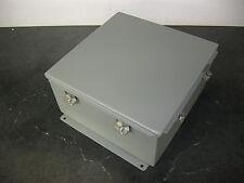 WIEGMANN BN4121206CHWW Electrical Enclosure 12x12x6 Gray Steel Box type 4-12