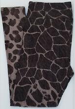 OS LuLaRoe One Size Leggings Giraffe Print Fade to Cheetah Leopard Gray 890
