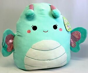 "Squishmallow 16"" Reina the Butterfly Stuffed Animal Plush Pillow Kellytoy NWT"
