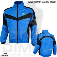Cycling Jacket Windstoper Fleece Thermal Winter Windproof Long Sleeve BLUE