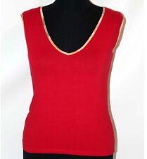 Prima Classe maglia rosso mappa t shirt canotta smanicata Alviero Martini M L