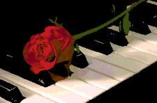 ESQUEMA PARA PUNTO DE CRUZ GRAFICO ROSA SOBRE EL PIANO CROSS STITCH PATTERN