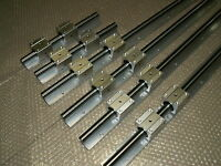 12mm linear slide guide shaft SBR12-150/420/420mm 6 rail+12SBR12UU block CNC set