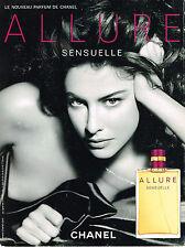 PUBLICITE ADVERTISING   2006   CHANEL  parfum ALLURE sensuelle
