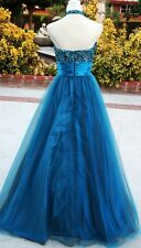 NWT Studio 17 $320 Teal Prom Ball Formal Evening Gown 0