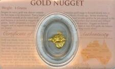 AUSTRALIAN GOLD NUGGET FOUR GRAMS PERTH MINT SEALED CERTIFICATE OF AUTHENTICITY