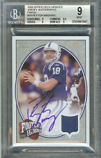 PEYTON MANNING 2008 UPPER DECK HEROES JERSEY AUTOGRAPHS PATCH #79 BGS 9/AU 10
