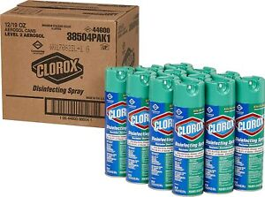 Clorox Commercial Disinfecting Spray, Fresh Scent, 19 oz Aerosol /Case:12