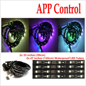 Car APP 210Mode Voice Control Bottom LED Atmosphere lamp RGB Color Chassis Light