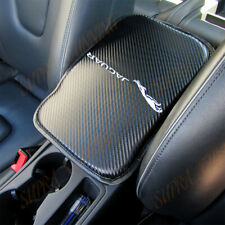 X1 For JAGUAR Carbon Fiber Car Center Console Armrest Cushion Mat Pad Cover New