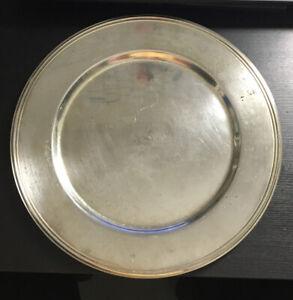 Teller Tablett versilbert Silberauflage rund 30 cm