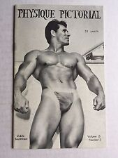 September 1966 Physique Pictorial Gay Men's Magazine w/ Gable Boudreaux on Cover
