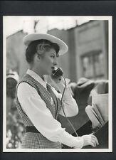 GREER GARSON - 1944 N. MINT MATTE FINISH DOUBLEWEIGHT CANDID PHOTO - VINTAGE