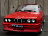 Rare 1:18 Red Diecast BMW M3 E30 1990 Toy Model Car M Power Turing Champion