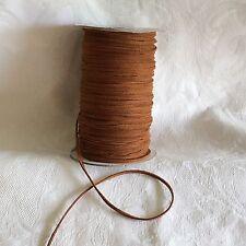 5m di 3mm In Finta Pelle Scamosciata Corda String Tanga in Tan #1022