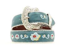 "BLAZIN ROXX - Girl's Belt 1.25"" - Embroidered Floral - Turquoise - N4416233-24"