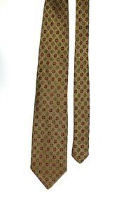 Romeo Gigli Vintage Multicoloured Geometric Pattern Acetate Silk Blend Tie  9 cm