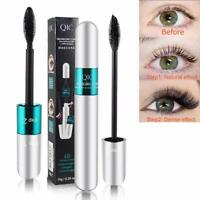 NEW 4D Silk Fiber Mascara Eyelash Lash BLACK Double Head Mascara Volume Make Up