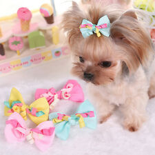5PCS Dog Grooming Bows Yorkie Pet Puppy Dog Hair Clips Lot Accessories Hairpins
