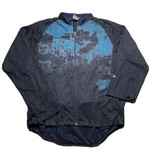 Men's Oakley Full Zip Long Sleeve Cycling Jacket Jersey Pockets Size Large Blue
