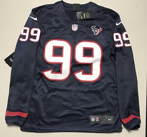 Nike Houston Texans J.J. Watt Therma-Fit Stitched L/S Football Sweater Men's Med