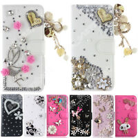 High Quality Wallet Flip Cover Bling 3D Crystal Diamond Case For iPhone Samsung