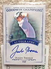 2016 GOODWIN CHAMPIONS JUSTIN THOMAS RC AUTO CARD  2017 PGA Winner (D)