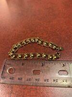 """Vintage Signed 925 Gold Plate Vermeil Sterling 7"""" Heart Bracelet FREE SHIPPING"""