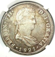 1821-GA FS Ferdinand VII Mexico 8 Reales Coin 8R. NGC Uncirculated Detail UNC MS