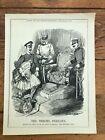 """1914 cartoon print """" the throne perilous """" austria to italy !"""