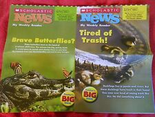 2 SCHOLASTIC NEWS WEEKLY READER BIG ISSUES APRIL 2014 TRASH BUTTERFLIES GRADE 1