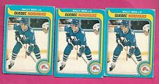 3 X 1979-80 OPC # 388 NORDIQUES WALLY WEIR  ROOKIE GOOD CARD (INV# C3258)