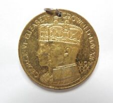 King George Vi Coronation Medal Gilt Finish 35 mm