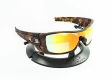 OAKLEY BATWOLF MATTE TORTOISE BROWN FRAME / REVANT FIRE RED POLARIZED CUSTOM