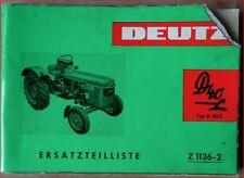 Deutz Schlepper D40 L Ersatzteilliste