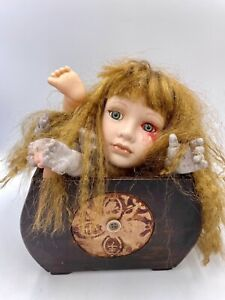 OOAK Baby Doll Head Body Parts Halloween Decor Oddity Weird Prop