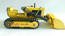 Vintage 1960s Tonka Tracked Trencher Backhoe Loader Pressed Steel Yellow