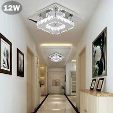 12W Luxus LED Decken Lampe Kristall Leuchte Wohn Zimmer Flur Beleuchtung Silber
