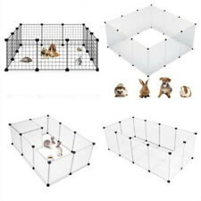 Portable Metal Dog Pet Playpen Crate Animal Fence Exercise Cage Multi Size