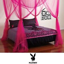 PLAYBOY PINK LOVE MESH BED CANOPY - BEDROOM HOME DECOR -RRP $70