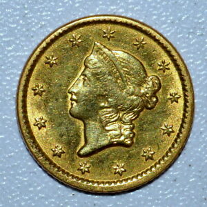 1851 $1 GOLD DOLLAR ✪ AU ALMOST UNCIRCULATED DETAILS ✪ G$1 UNC L@@K ◢TRUSTED◣