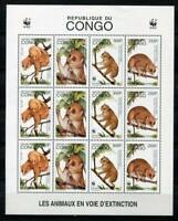 38115) Congo Rep.1998 MNH Arctocebus Angwantibo Wwf Ms