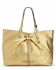 Juicy Couture Handbags - Robertson Drawstring Leather Tote Bag Gold-NWT-RP: $328