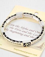 Alpha & Omega, First & Last, Beginning & End Religious Christian Bracelet #408-C