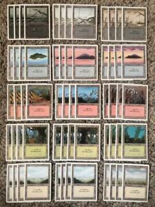 MTG- Revised Basic Land Set x4 each Art - 60 Card LOT