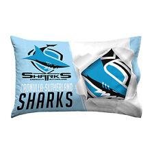 Official NRL Cronulla Sharks Bed Single Pillowcase Pillow Case Pillowslip