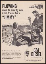 "1959 GM Diesel ""Jimmy"" engine vintage print ad - tractor, ice water"