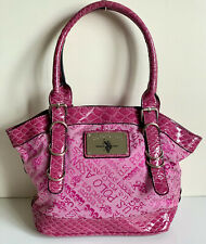 NEW! U.S. POLO ASSOCIATION USPA FUCHSIA PINK SATCHEL SHOPPER TOTE BAG PURSE SALE