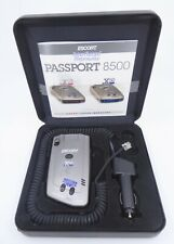 Escort Passport 8500 X50 Radar Detector BLUE w/Case and Owners Manual Car Charge